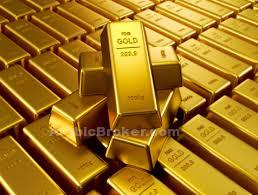 الذهب ينخفض بعد ثماني جلسات من المكاسب
