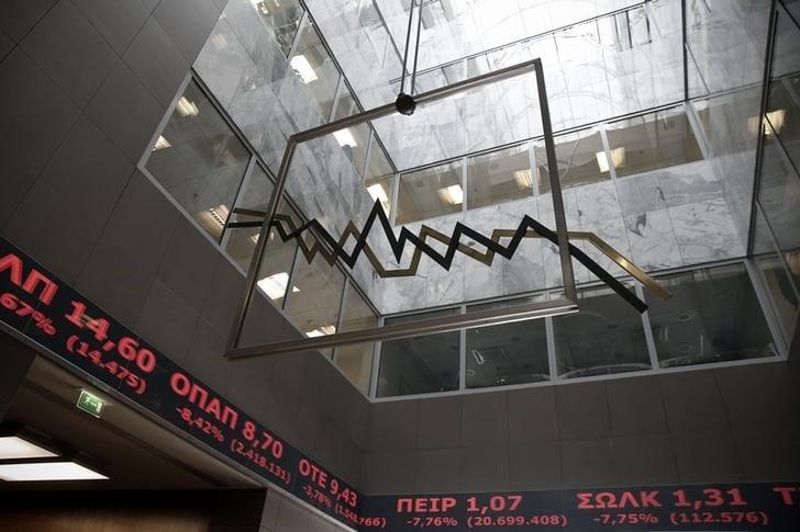 مؤشرات الأسهم في اليونان ارتفعت عند نهاية جلسة اليوم؛ Athens General Composite صعد نحو 2.40%