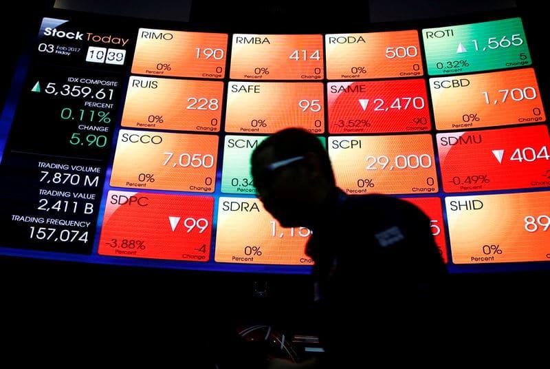 مؤشرات الأسهم في إندونيسيا هبطت عند نهاية جلسة اليوم؛ آي دي إكس المركب تراجع نحو 0.02%