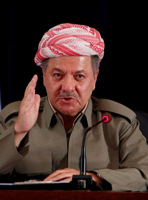 برزاني يقول الأكراد أيدوا الاستقلال في الاستفتاء ويدعو بغداد للحوار