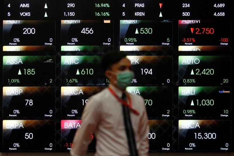 مؤشرات الأسهم في إندونيسيا هبطت عند نهاية جلسة اليوم؛ آي دي إكس المركب تراجع نحو 0.48%
