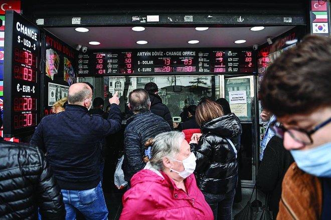 المركزي التركي يضطر للإبقاء على مستويات الفائدة مع ارتفاع قياسي للتضخم